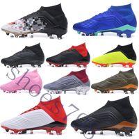 calzado deportivo para hombre al por mayor-box 2019 crampons de football cleats predator 18+ boots mens scarpe da youth Zapatos deportivos de fútbol FG running zapatillas scarpe chaussures