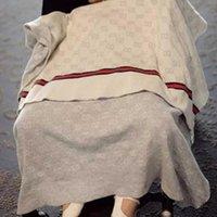 manta de bebé de calidad al por mayor-JHbrand Ins manta del bebé de lujo Manta Calidad de verano la playa del verano de la alfombra beige Knitting manta para el bebé 90 * 120cm