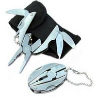 conjunto de alicates de chave de fenda venda por atacado-Bolso ao ar livre mini foldaway multi função ferramentas conjunto bolso chaveiro alicate faca chave de fenda chaveiro conjunto
