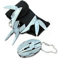 herramienta de llavero mini alicates al por mayor-Juego de herramientas multifunción multifunción de bolsillo al aire libre de bolsillo alicates llavero cuchillo destornillador juego de llaves