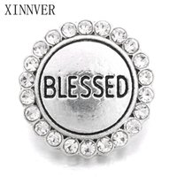 Wholesale blessing bracelets women for sale - Group buy 10pcs Xinnver Snap Jewelry Metal MM Snap Buttons Bracelet Blessed Design Alloy Snap fit Charm Bracelets For Women ZA664