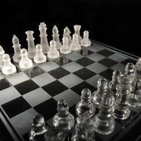 ingrosso scacchi internazionali-25 * 25cm K9 Set di scacchi in vetro medio wrestling Confezione di scacchi internazionale Set di scacchi internazionale SH190907