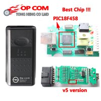 opcom pic18f458 toptan satış-5 adet / grup PIC18F458 ile DHL Ücretsiz En İyi Kalite V5 OP COM CAN BUS OBD2 OP-COM OPCOM tanı-aracı
