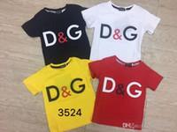 ingrosso camicie coreane per l'estate-Ragazzi t-shirt manica corta estate bambini bambini cotone top coreano estate vestito bambino bussola uomini 3524 #