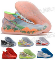 Wholesale kevin durant shoes orange green for sale - Group buy Jam Kd Peach Basketball Shoes Kevin Durant Eybl Floral Warriors Home s Kid Dub Nation Orange Kd Mens Man Designer Shoe Sneakers Bsb