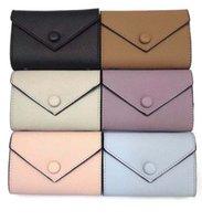 fermuarlar deri cüzdan toptan satış-Kadınlar için toptan deri cüzdan renkli tasarımcı kısa cüzdan Kart sahibinin kadın çanta klasik fermuarlı cebi Victorine