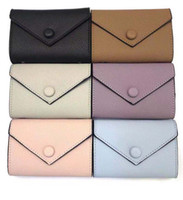 Wholesale white leather wallet zipper for sale - Group buy leather wallet for women multicolor designer short wallet Card holder women purse classic zipper pocket Victorine
