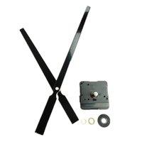большие механические настенные часы оптовых-Wholesale10PCS 22мм вал с высоким крутящим моментом черный металл большой механические часы ремкомплект для DIY настенные часы