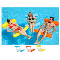 Wholesale free shipping inflatable beds resale online - cm Inflatable Water Hammock Floating Bed Lounge Chair Drifter Swimming Pool Beach Float for Adult