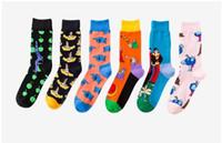 calcetines extranjeros al por mayor-Venta al por mayor envío gratis marca de marea de comercio exterior con los calcetines de los hombres del mismo párrafo
