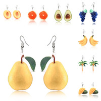Wholesale girls soccer gifts resale online - High Quality Drop Dangle Earrings Trendy Statement Creative Funny Cute Acrylic Fruit Earrings For Women Girls Valentine s Day Gifts U70FY
