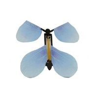 jouets en caoutchouc achat en gros de-NOUVEAU Magic Fairy Flying Butterfly Rubber Band Powered Powered Wind up jouets de papillon De Mariage Anniversaire Cadeaux De Noël