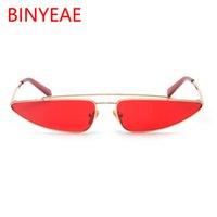 óculos de homem exclusivos venda por atacado-2018 Nova Moda Estilo Europeu Mulheres Homens Pequeno Quadro de Liga triângulo Forma de Óculos De Sol Único Tendência Narrow Sun Glasses UV400