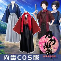 Wholesale full tv online for sale - Group buy Anime Touken Ranbu Online Yamatonokami Yasusada Kashuu Kiyomitsu Cosplay Costume Kimono Uniform Full Set Asian Size