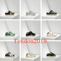 italien leinwand großhandel-2019 Italien Lederschuhe Turnschuhe Goldens Scarpe Donna Uomo Homme Femme Turnschuhe Francy Cotton Canvas und Leder Star Size35-45