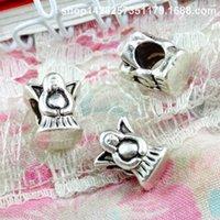 ingrosso ornamenti di fata dell'angelo-60pcs 10.1 * 8.9MM antico argento tibetano angelo fata perline ornamento fascini per il braccialetto vintage in metallo perline sparse gioielli fai da te fare