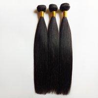 en kaliteli atkı saç uzantıları toptan satış-En İyi Kalite Ucuz Perulu Brezilyalı Hint Malezya Saç Uzatma Bakire Saç Çift 3 adet lot Atkı 8-30 inç Ücretsiz Kargo İnsan Saç