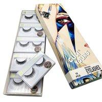 kalın uzun çapraz yanıltıcı kirpikler toptan satış-3D Vizon Yanlış Lashes Uzun Kalın Çapraz Doğal Vizon Kirpikler El Yapımı Yanlış Kirpik Göz Makyaj Araçları 10 çift / takım RRA1042
