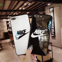 Wholesale bumpers iphone dhl online – custom For iPhone X XR XS MAX S plus TPU Frame Bumper glass case Tempered Glass Glossy Phone Case Shockproof Back Cover free DHL