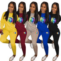 Wholesale bowling sports cartoons for sale - Group buy Women Tracksuits Winter Sports Suits Mouse Print Two Piece Outfits Cartoon Pattern Long Sleeve Sweatshirts Sweatpant Suits Gray Yellow Black