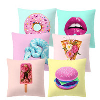 Wholesale patterns for bedding for sale - Group buy Creative Pattern Printed Cushion Cover Colorful Pillow Case Polyester Sofa Bed Decorative Pillows for Home Decor cm