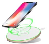 iphone sertifikalı şarj cihazları toptan satış-Hızlı Kablosuz Şarj Pad Qi-Sertifikalı 10 W Kablosuz Şarj Istasyonu ile Uyumlu iPhone Xs MAX / XR / XS / X / 8/8 Artı Galaxy S10