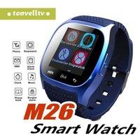 precios para samsung s5 al por mayor-M26 Bluetooth Smart Watches M26 para iPhone 6 6S Samsung S5 S4 Note 3 HTC Android Teléfono Smartwatch para Hombres Mujeres Precio de fábrica