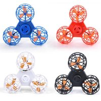 Wholesale fidget spinner colors resale online - 4 Colors Flying Fidget Spinner Mini Rechargeable Automatic Rotatable Flying Finger Spinner Anxiety Stress Toy Novelty Items