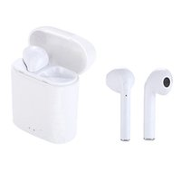 Wholesale android box bluetooth resale online - New I7S Mini TWS Bluetooth Headphones Wireless Earphones Headset Double Earbuds with Charging Box for iPhone X Android with Retail Box