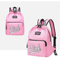 sırt çantaları kızlar için sırt çantası toptan satış-Aşk Pembe Mektup Çanta Sırt Çantası Kız Moda Deisgn Açık Spor Seyahat Genç Okul Sırt Çantası Su Geçirmez Omuz Çantası