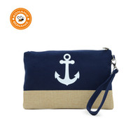 Wholesale anchor handbags resale online - BONAMIE Anchor Pattern Beach Bag Flamingo Women Fashion Handbag For Female Large Capacity Pineapple Wristlet Clutch Bag New