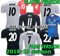 Wholesale PLAYER VERSION Real Madrid home soccer jersey ASCENSIO RONALDO BENZEMA BALE KROOS RAMOS MODRIC ISCO NAVAS MARCELO football shirt