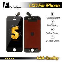 iphone 5g de la pantalla táctil del reemplazo al por mayor-Para iPhone 5G Pantalla LCD 5 5G 5S 5C SE Grado Calidad AAA Asamblea completa Reemplazo del digitalizador de pantalla táctil para iPhone 5S LCD