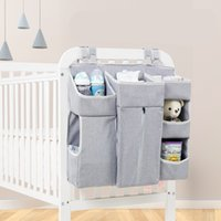 Wholesale crib diaper resale online - Portable Baby Crib Organizer Bed Hanging Bag for Baby Essentials Diaper Storage Cradle Bag Bedding Set