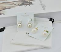 beliebte schmuckdesigner großhandel-Beliebte modemarke Hohe version Perle Ohrring für dame Designer Frauen Party Hochzeit Liebhaber geschenk Luxus Schmuck