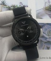 Wholesale chignon for sale - 86 EEmporio ARMANI New BRAND Luxury WOMEN Men Watch LEATHER BAND Sports mens Watches quartz Business Wristwatch