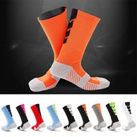Wholesale nylon compression socks resale online - Thicker sport Towel Bottom Basketball Training Socks Breathable Anti slip Soccer Riding Fitness knee high Male Elite socks Compression Socks