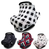 Wholesale cart car resale online - Stroller Nursing Cover Striped Floral Baby Car Seat Cover Shopping Cart Breastfeeding Cover Up High Chair Covers OOA7476