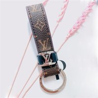Wholesale car bottle opener resale online - Luxury Genuine Leather Car Key Chain Print Letter Keychain as Gift Fashion Door Key Ring Key Accessories