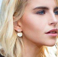 18k electroplated jewelry großhandel-Designer Monaco Ohrringe Gold Gelb Silber Sterne Galaxy Ohrringe Damen Galvanik 18k Golden Damen Hochzeitsschmuck