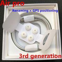 Wholesale up headphones for sale - Group buy Newest AP3 pro Wireless Charging Generation Sensor rename Bluetooth Headphones auto paring Earphones with pop up windownes