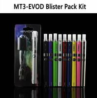 evod elektronische cigs großhandel-Heimelektronik Elektronische Zigaretten E-Zigaretten-Kits Produktdetail EVOD MT3 Blister-Kit Einzel-Kits eGo-Starter-Kits e Cigs Cigare