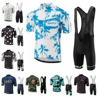Wholesale New Morvelo Cycling jerseys Quick Dry bib shorts set Ropa Ciclismo mens short sleeve Cycling clothes Bike Racing K051505