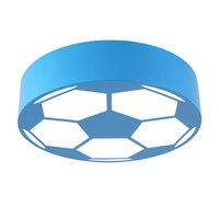 Wholesale pink iron lights resale online - New modern creative round football led ceiling lamps surface mounted ceiling lighting children bedroom playroom led ceiling lights