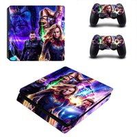 Wholesale playstation slim consoles resale online - Avengers Endgame Iron Man PS4 Slim Skin Sticker Vinyl For PlayStation Console and Controllers PS4 Slim Skin Stickers Decal