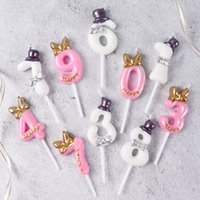 Wholesale birthday numbers cake toppers resale online - Cakelove Number Cake Candle Birthday Party Supplies Cake Topper Anniversary Cake Numbers Age Candle Party Decorations