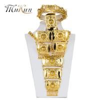 peru de jóias venda por atacado-MUKUN Dubai jóias conjuntos nupcial casamento nigeriano Beads africanos Jóias Define Moda Turquia Colar Pingente Projeto