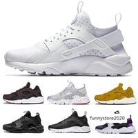 Wholesale men red sport designer shoes resale online - 2020 Huarache Classical Triple White Black Grey Red Running Shoes air men women Huaraches sports trainers Sneakers