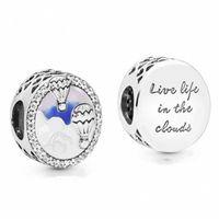 balloon jewelry venda por atacado-Novo Autêntico 100% 925 Grânulos De Prata Esterlina Esmalte Misto Encantos de Viagem de Balão de Ar Quente Fit Pandora Pulseiras Diy Mulheres Jóias