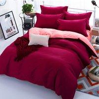 ingrosso biancheria da letto di bordeaux-Set copripiumino color giada bordeaux per letto matrimoniale singolo per bambini adulti 6 taglie set lenzuola 100% cotone XF644-12
